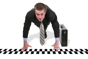 business man race