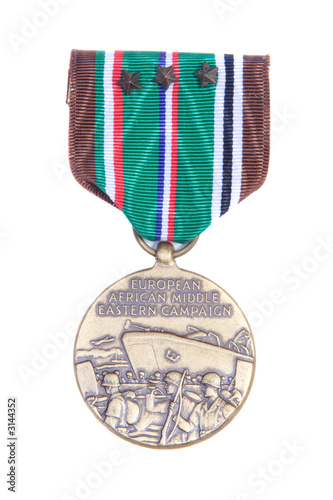 war medal isolated on white