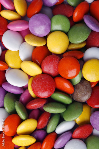 colorful candy macro