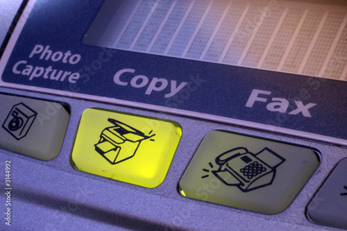 copy button of fax machine