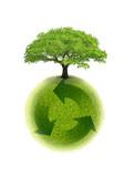 Fototapety planète terre recyclage