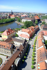 view of wroclaw town