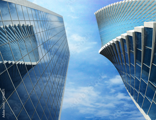 two business buildings
