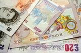 british pound banknotes poster