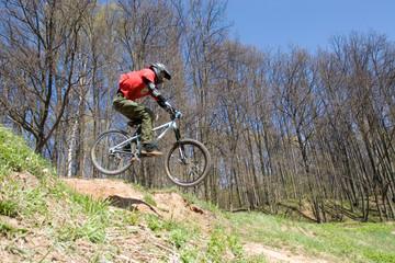 mountain biker in jump 2