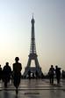 Paris, Eiffelturm, Menschen, Silhouette, Copyspace