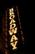 Leinwanddruck Bild - broadway sign