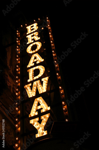 Deurstickers Theater broadway sign