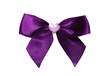 noeud de satin violet