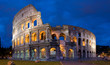 Colosseum of Rome at twilight