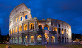Colosseum of Rome at twilight-