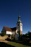 village church in czech republic/europe poster