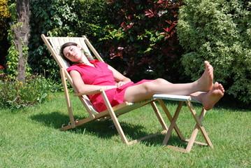 sieste et chaise longue