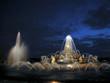 Leinwanddruck Bild - bassin de latone de nuit
