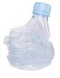 bouteille plastique compressée