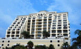luxury condominium on florida beach poster