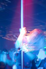 blauer tanz an der stange