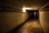 dark underground tunnel poster