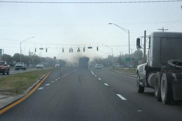 dump truck pollution