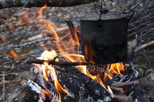 kettle on a fire
