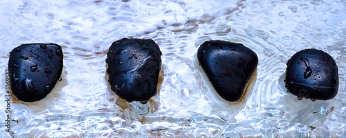 stones fortune telling divination on water pebbles
