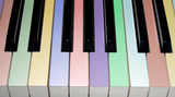 colored piano keys