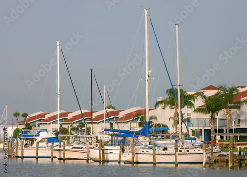 condo and sailboats