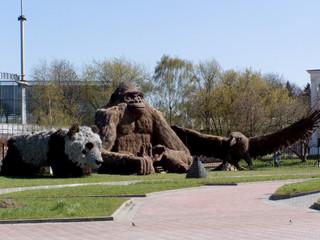 garden sculptural composition