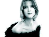 monochrome portrait of  woman poster