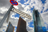 potsdamer platz with office buildings poster