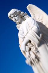 angel against blue sky