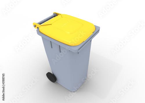 poubelle jaune de frank boston photo libre de droits 3188765 sur. Black Bedroom Furniture Sets. Home Design Ideas