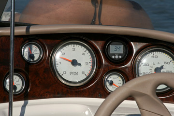 boat dashboard