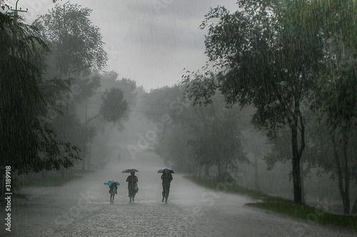 Fotobehang Onweer rainstorm