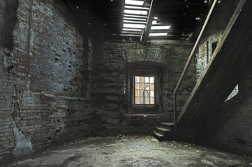 abandoned store house