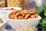bowl of almonds poster