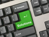 keyboard - green key solutions poster