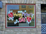happy mother's day window