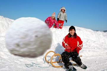 vorsicht schneeball