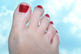 foot, toes, sky poster