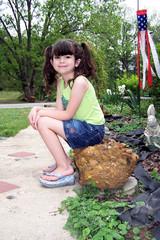 outside child portrait