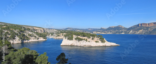 french calanques of cassis, marseille, south of france, panorama