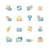contour web-mail icons poster