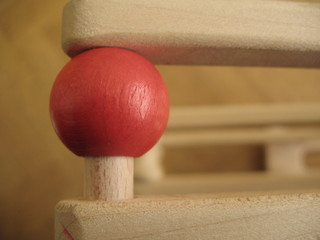 red wood ball