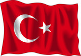 flag of turkey poster