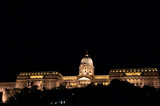 royal castle at night, budapest poster