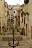 typical street from lisbon in portugal poster