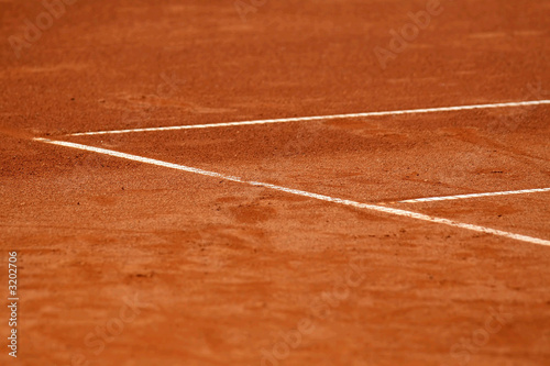 lines at tennis court