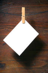 white   paper clothes-peg rope