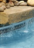 swimming pool water feature poster